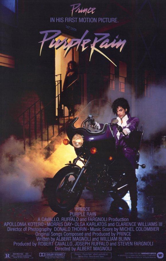 """Póster de la película """"Purple Rain"""""""