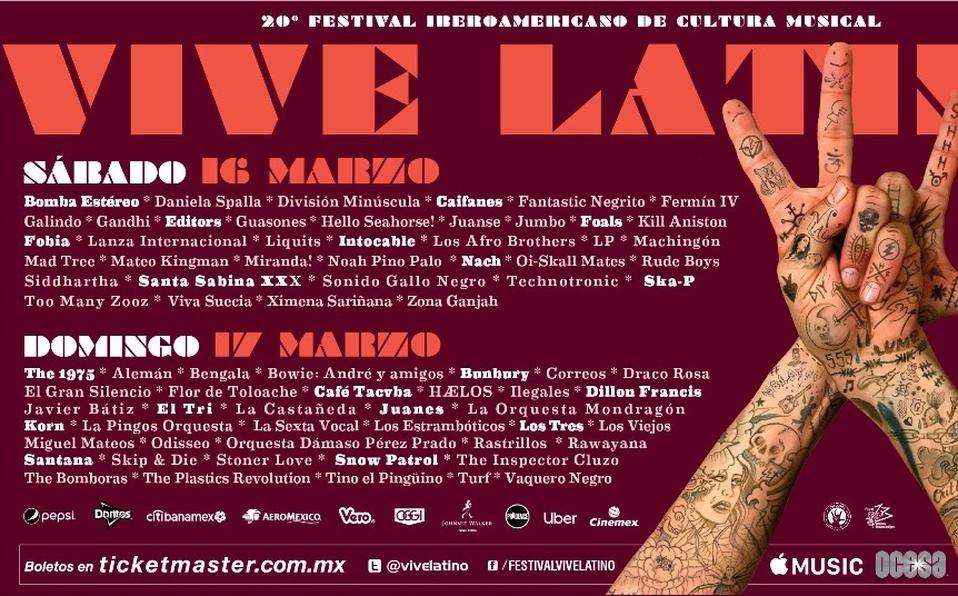 Nuestra recomendación de bandas para Vive Latino.